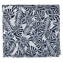 Buy Warehouse Palm Print Scarf, Navy Online at johnlewis.com