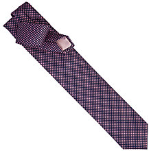 Buy Thomas Pink Warren Check Woven Tie, Pink/Navy Online at johnlewis.com