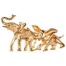 Buy Susan Caplan Vintage 1960s Art Elephants Brooch, Gold Online at johnlewis.com