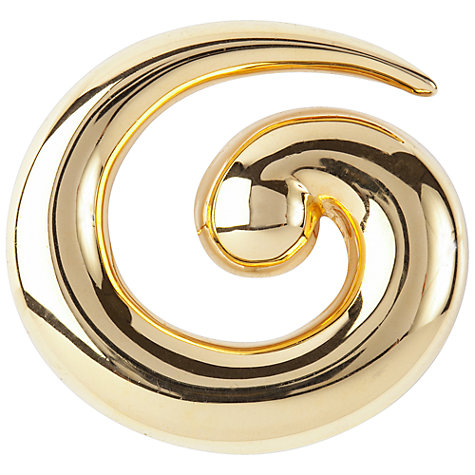 Buy Susan Caplan Vintage 1960s Monet Gold Plated Swirl Brooch Online at johnlewis.com