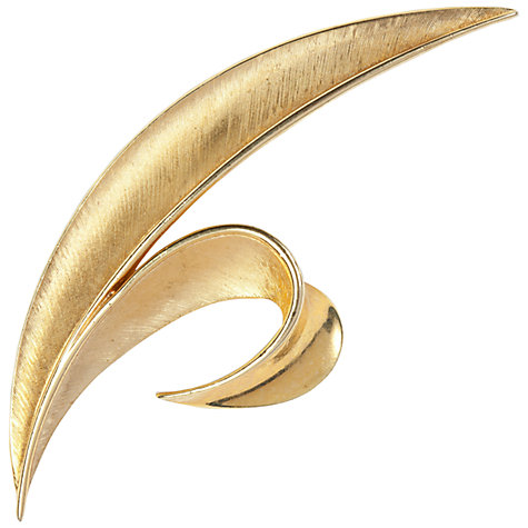 Buy Susan Caplan Vintage 1960s Trifari Gold Plated Leaf Brooch Online at johnlewis.com