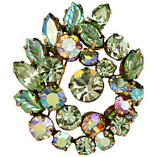 Buy Susan Caplan Vintage 1950s Regency Swarovski Crystal Mint Green Brooch Online at johnlewis.com