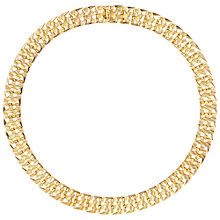 Buy Susan Caplan Vintage 1960s Grosse Textured Link Necklace, Gold Online at johnlewis.com