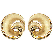 Buy Susan Caplan Vintage 1960s Contrast Textured Swirl Clip-On Earrings, Gold Online at johnlewis.com