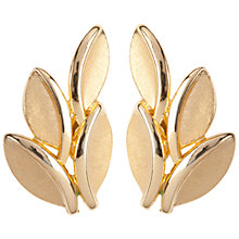Buy Susan Caplan Vintage 1960s Trifari Stylised Leaf Clip-On Earrings, Gold Online at johnlewis.com