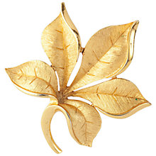 Buy Susan Caplan Vintage 1960s Trifari Textured Leaf Brooch, Gold Online at johnlewis.com