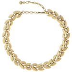 Susan Caplan Vintage 1960s Trifari Laurel Leaf Necklace, Gold