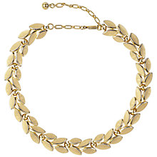 Buy Susan Caplan Vintage 1960s Trifari Laurel Leaf Necklace, Gold Online at johnlewis.com