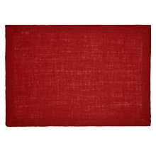 Buy John Lewis Hoxton Placemats, Set of 2, Cranberry Online at johnlewis.com