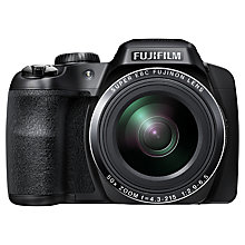 "Buy Fujifilm FinePix S9200 Bridge Camera, HD 1080p, 16.2MP, 50x Optical Zoom, EVF, 3"" LCD Screen, Black with Memory Card Online at johnlewis.com"