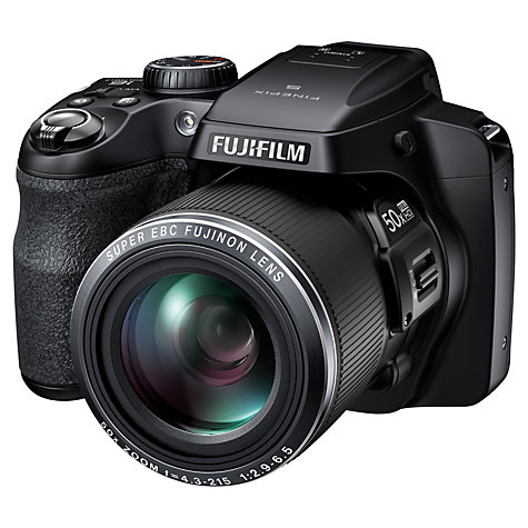 "Buy Fujifilm FinePix S9200 Bridge Camera, HD 1080p, 16.2MP, 50x Optical Zoom, EVF, 3"" LCD Screen, Black Online at johnlewis.com"