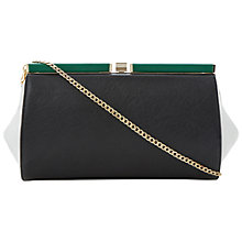 Buy Dune Ewinged Colour Block Clutch, Black Online at johnlewis.com