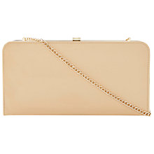 Buy Dune Bemzie Patent Leather Clutch Handbag, Nude Online at johnlewis.com