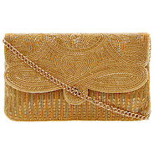 Buy Dune Eazie Slim Beaded Clutch, Gold Online at johnlewis.com