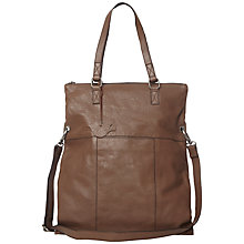 Buy White Stuff Amber Foldaway Leather Bag, Brown Online at johnlewis.com