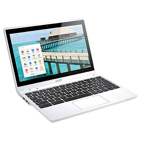 "Buy Acer C720P Chromebook, Intel Celeron, 2GB RAM, 16GB SSD, 11.6"" Touch Screen, White Online at johnlewis.com"