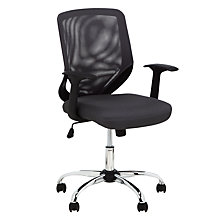 Buy John Lewis Robin Desk and Penny Office Chair, White / Grey Online at johnlewis.com