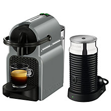Buy Nespresso Inissia Coffee Machine with Aeroccino by Magimix, Grey Online at johnlewis.com