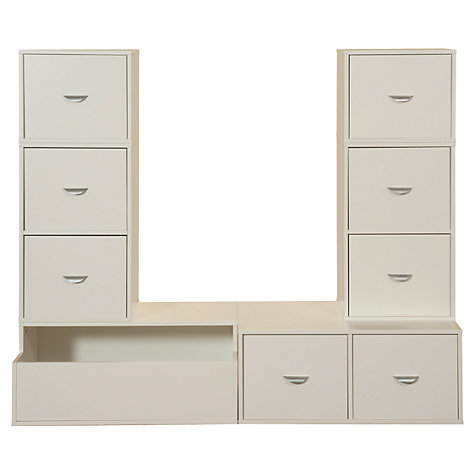 Buy Stompa 6 Unit Storage Combination, White Online at johnlewis.com