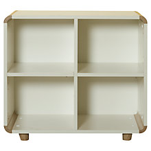 Buy Stompa Curve 4 Cube Shelving Unit, Silk White / Oak Online at johnlewis.com
