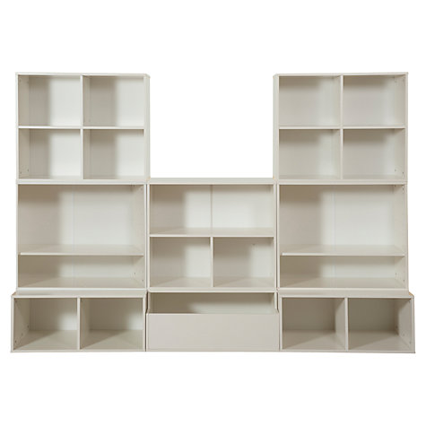 Buy Stompa 8 Unit Storage Combination, White Online at johnlewis.com