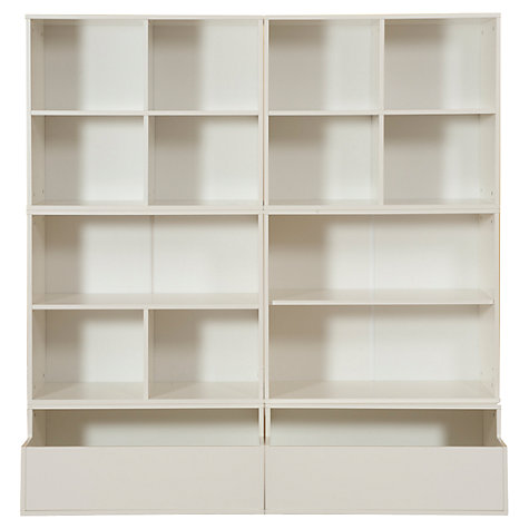 Buy Stompa 6 Unit Square Storage Combination, White Online at johnlewis.com