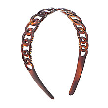 Buy John Lewis Narrow Touth Shell Headband, Brown Online at johnlewis.com