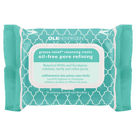 Buy OLEHENRIKSEN Grease Relief Cleansing Cloths, Pack of 30 Online at johnlewis.com