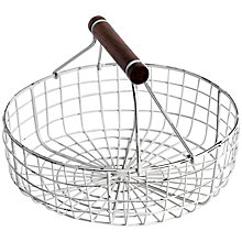 Buy Nkuku Round Wire Basket Online at johnlewis.com
