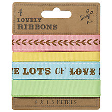 Buy Talking Tables Wrapping Room Ribbons, Pack of 4 Online at johnlewis.com