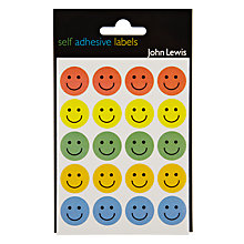 Buy John Lewis Smiley Face Stickers, Pack of 140 Online at johnlewis.com