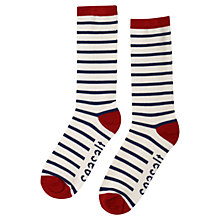 Buy Seasalt Sailor Breton Striped Ankle Socks, Navy Online at johnlewis.com