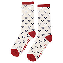 Buy Seasalt Sailor Socks, Hanky Dot, Ecru Online at johnlewis.com