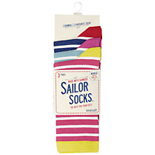 Buy Seasalt Sailor Socks, Juicy Stripe, 3 Pack Online at johnlewis.com