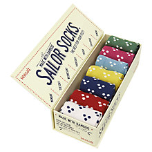 Buy Seasalt Sailors Hanky Dot Box O' Socks, 7 Pack, Multi Online at johnlewis.com