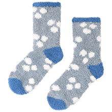 Buy Seasalt Fluffy Stripe Ankle Socks, Blue, 1 Pair Online at johnlewis.com
