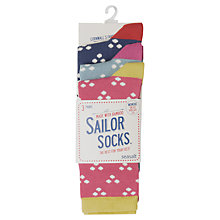 Buy Seasalt  Sailor Hanky Dot Ankle Socks, 3 Pack Online at johnlewis.com