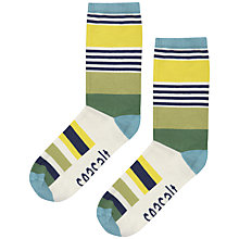 Buy Seasalt Deckhair Stripe Socks, Putty Online at johnlewis.com