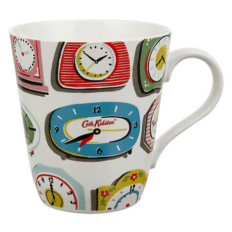 buy cath kidston stanley clocks mug white john lewis. Black Bedroom Furniture Sets. Home Design Ideas