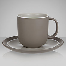Buy John Lewis Puritan Cup & Saucer, 0.24L, Mocha Online at johnlewis.com