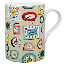 Buy Cath Kidston Cedar Mini Clocks Mug, Stone Online at johnlewis.com