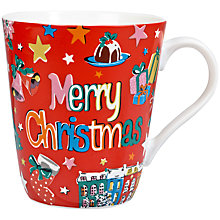 Buy Cath Kidston Christmas Stanley Mug, Red Online at johnlewis.com