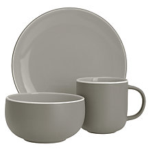 Buy John Lewis Puritan Tableware Set, 12 Piece, Mocha Online at johnlewis.com