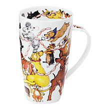 Buy Dunoon Henley Dogs Frolics Mug, 0.6L Online at johnlewis.com