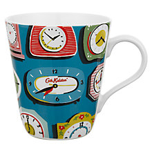 Buy Cath Kidston Stanley Clocks Cobalt Mug Online at johnlewis.com