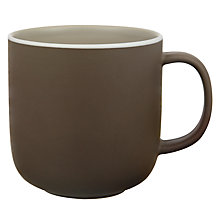 Buy John Lewis Puritan Mug, 0.3L, Mocha Online at johnlewis.com