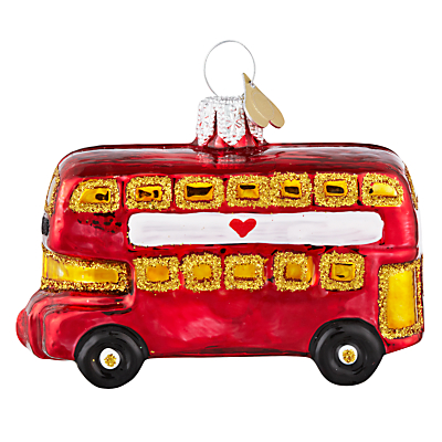 Image of Bombki Tourism Little London Bus Glass Tree Decoration, Red