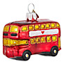 Buy Bombki Tourism Little London Bus Glass Tree Decoration, Red Online at johnlewis.com