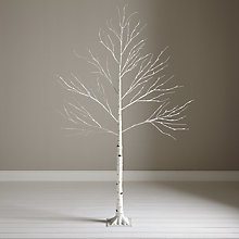 Buy John Lewis Pre-Lit Paper Birch Christmas Tree, White, 6ft Online at johnlewis.com