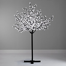 Buy John Lewis Pre-Lit Cherry Blossom Christmas Tree, Warm White, 7ft Online at johnlewis.com